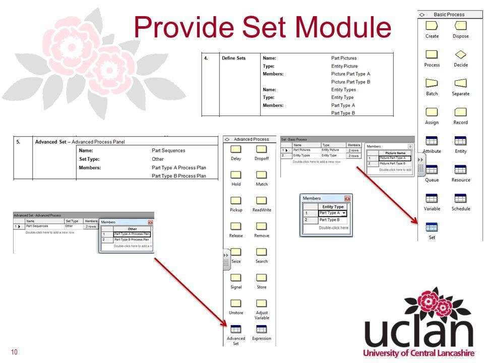 10 Provide Set Module