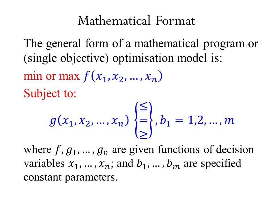 Mathematical Format