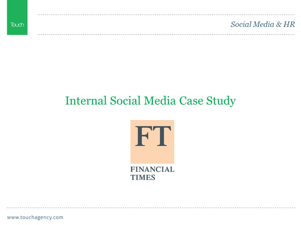 Social Media & HR Internal Social Media Case Study