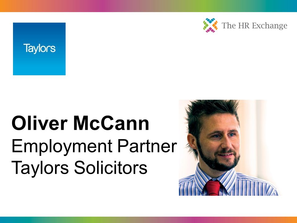Oliver McCann Employment Partner Taylors Solicitors