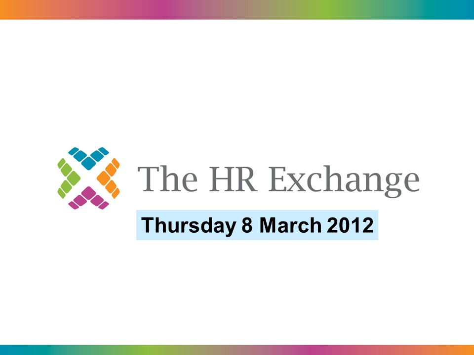 Thursday 8 March 2012