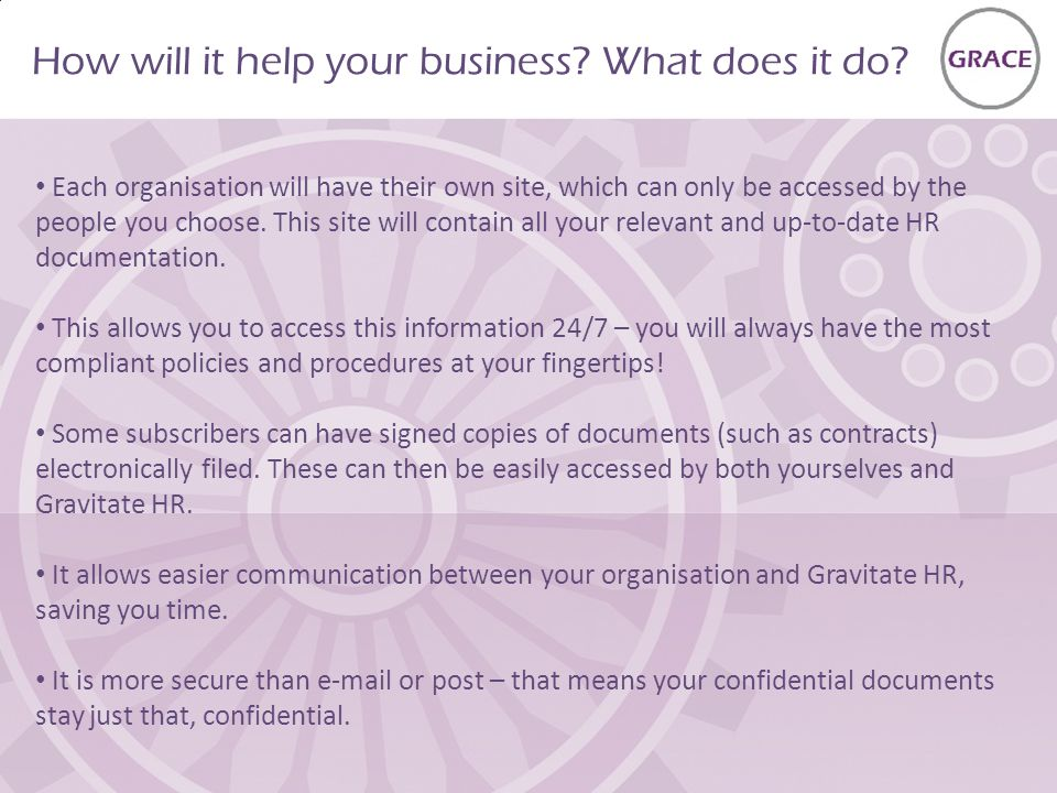 How will it help your business. What does it do.