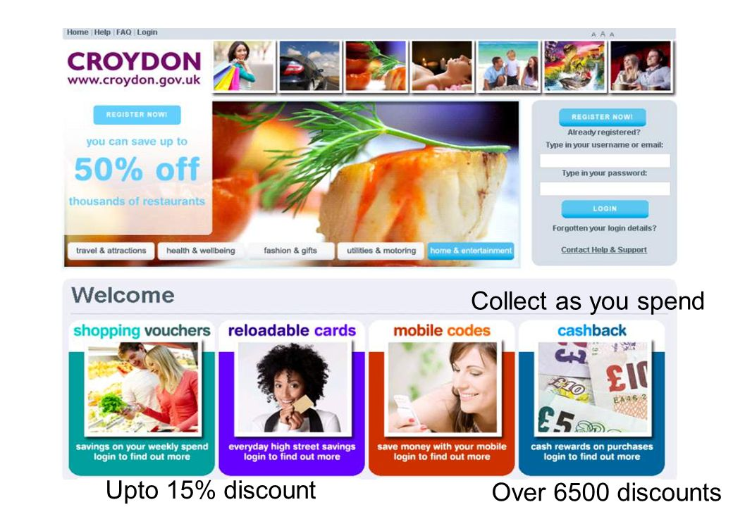 Upto 15% discount Collect as you spend Over 6500 discounts