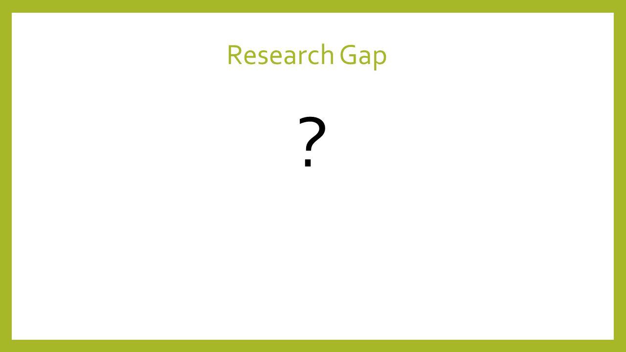 Research Gap ?