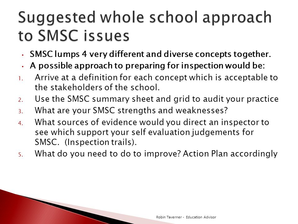 SMSC lumps 4 very different and diverse concepts together.