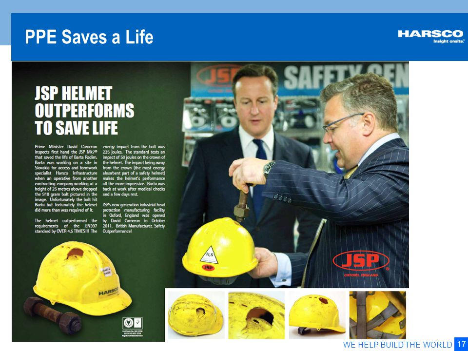 17 WE HELP BUILD THE WORLD PPE Saves a Life