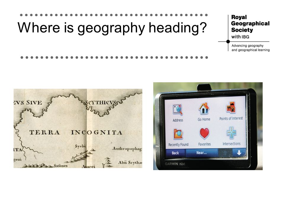 Where is geography heading?