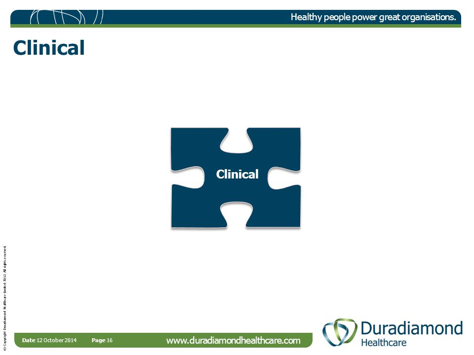 © Copyright Duradiamond Healthcare Limited 2012. All rights reserved.