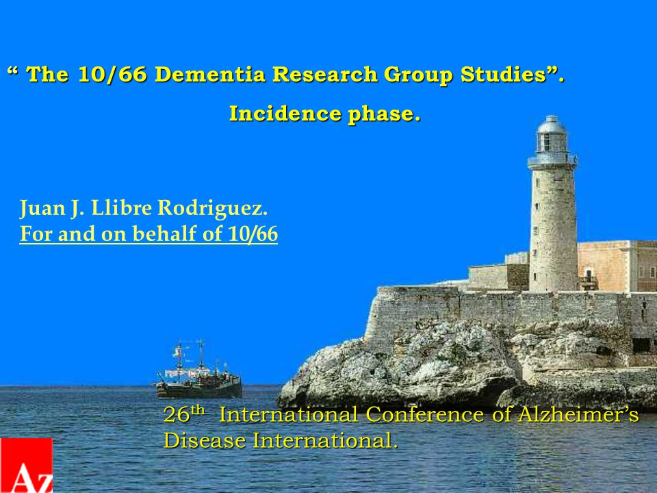 The 10/66 Dementia Research Group Studies . Incidence phase.