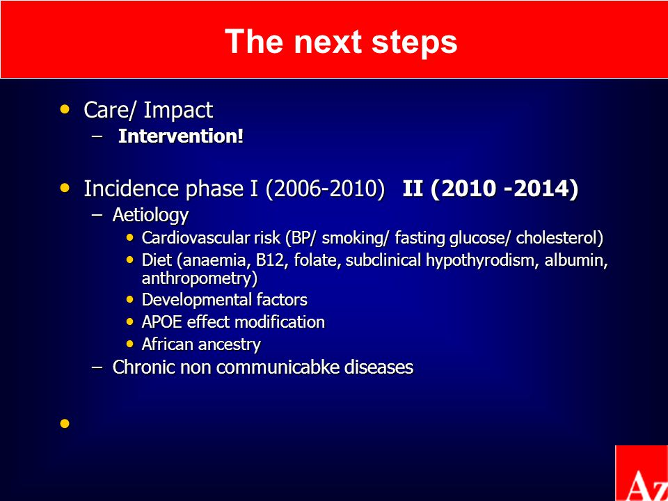 The next steps Care/ Impact Care/ Impact – Intervention.
