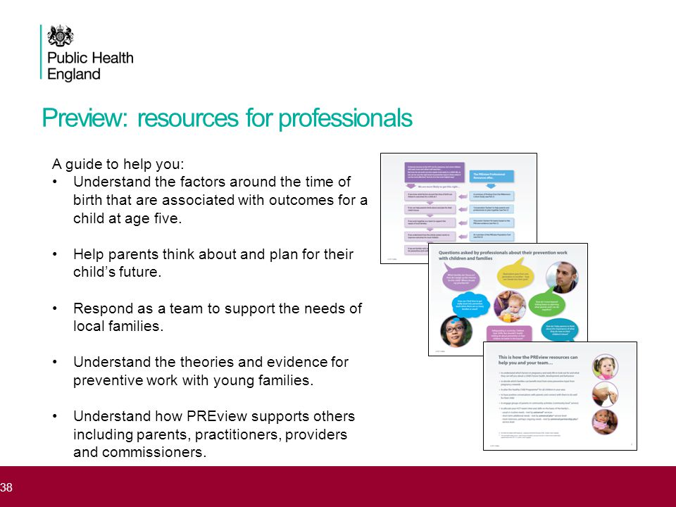 Preview: resources for professionals 38 A guide to help you: Understand the factors around the time of birth that are associated with outcomes for a c