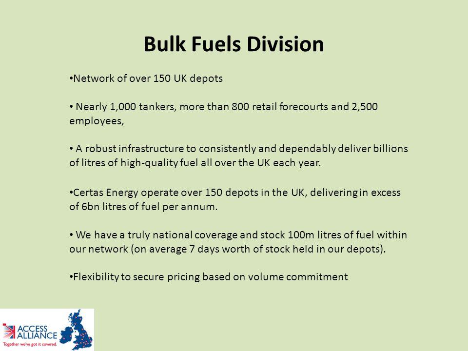 Certas UK Bulk Fuel Network