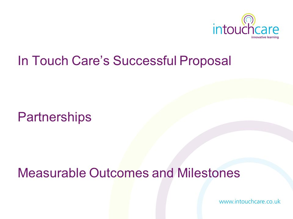 In Touch Care's Successful Proposal Partnerships Measurable Outcomes and Milestones