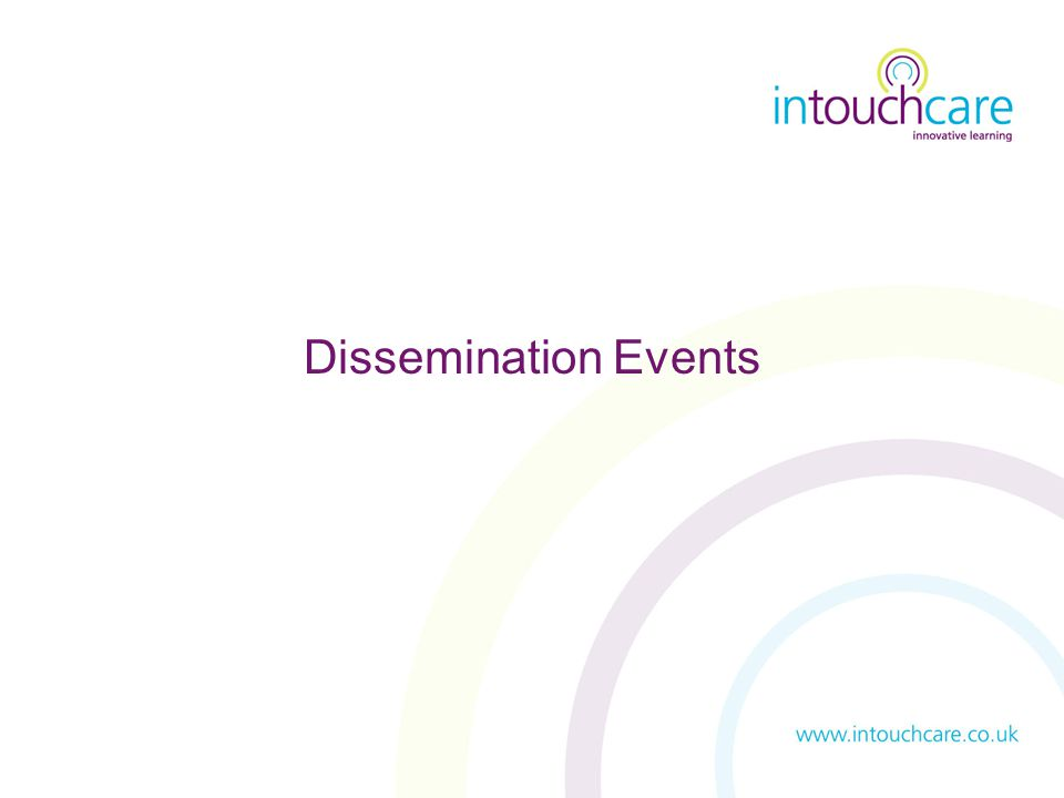 Dissemination Events