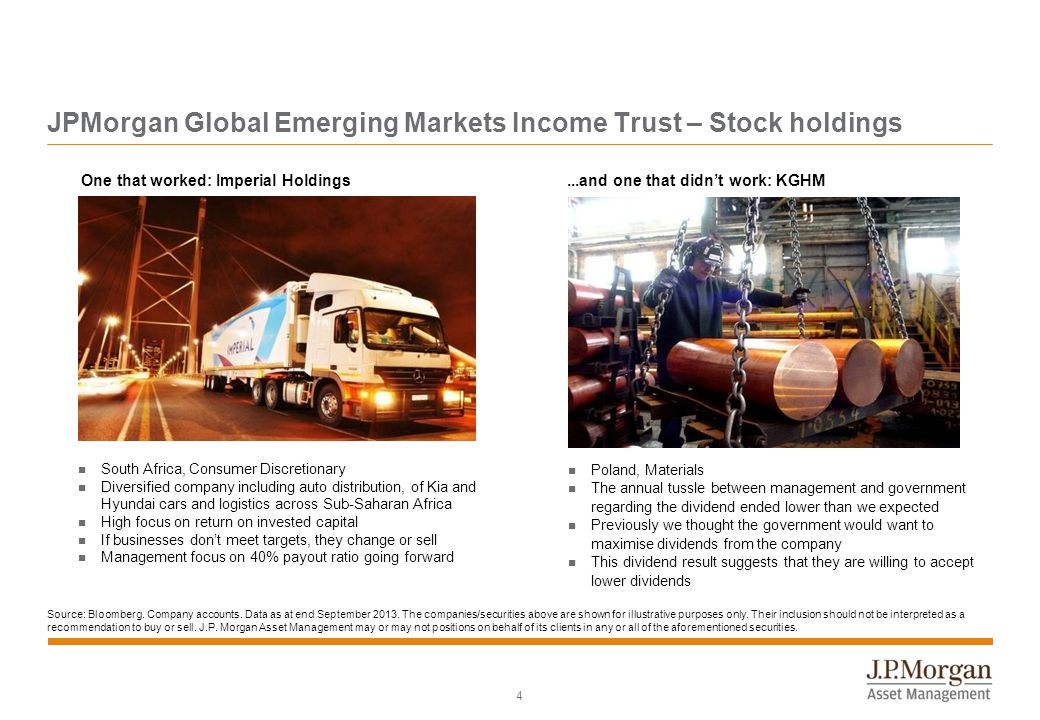 15 JPMorgan Global Emerging Markets Income Trust plc: Risk profile Risk Profile – Investments in emerging markets may involve a higher element of risk due to political and economic instability and underdeveloped markets and systems – Exchange rate changes may cause the sterling value of underlying overseas investments to go down as well as up – There can be no guarantee that the targeted yield of 4% will be achieved and therefore such forecasts are not a reliable indicator of future performance Please refer to the Fund's prospectus for more information relating to the Fund.