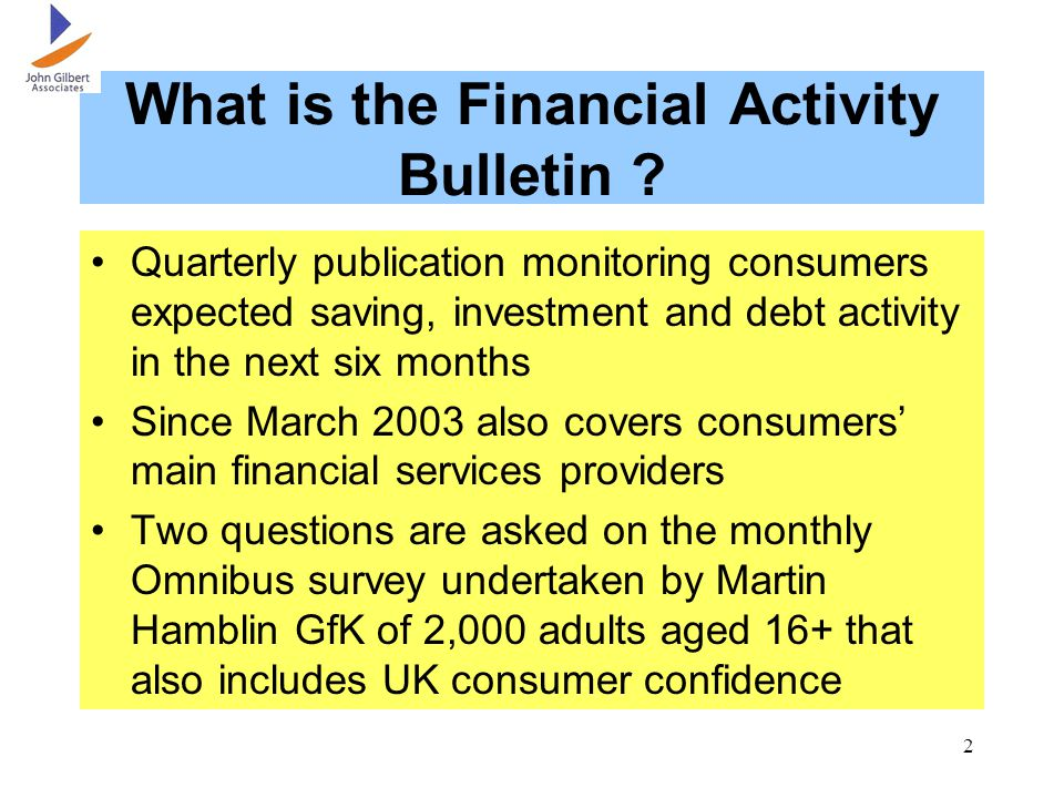 2 What is the Financial Activity Bulletin .