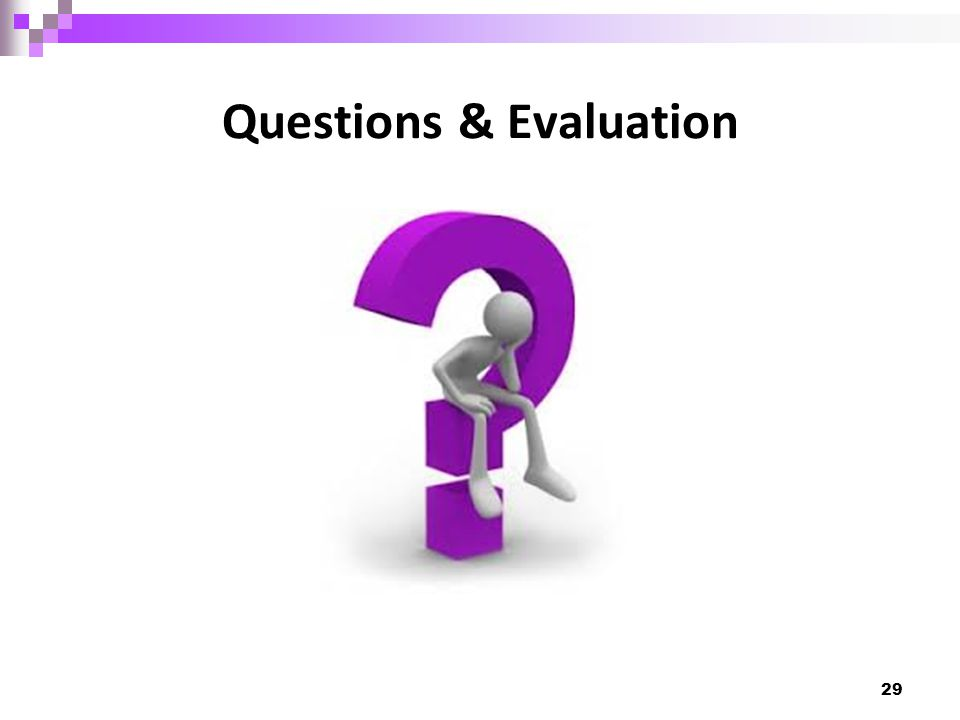 Questions & Evaluation 29