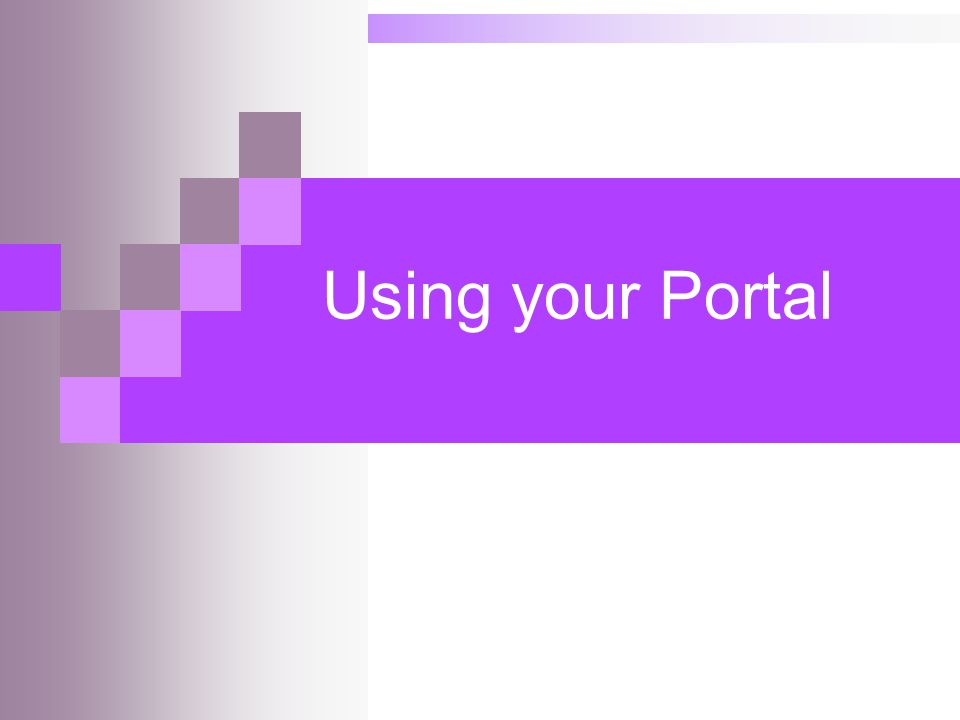Using your Portal