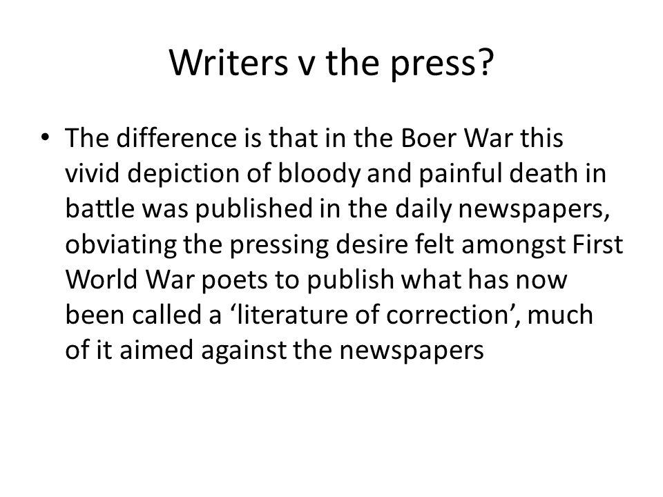 Writers v the press.