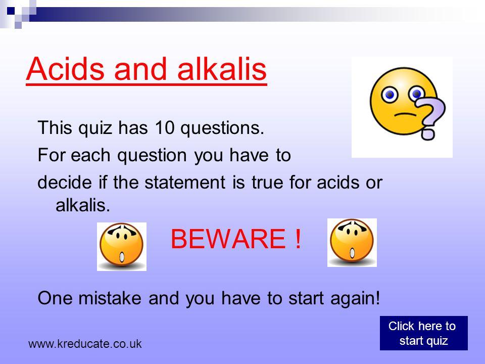 pH 1 AcidAlkali