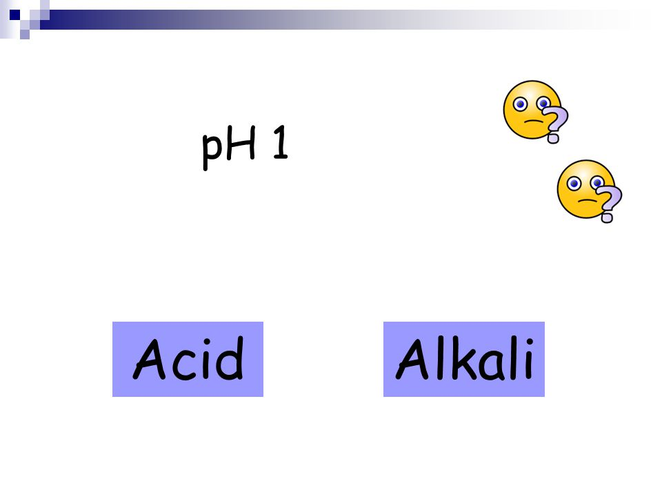 pH 1 AcidAlkali