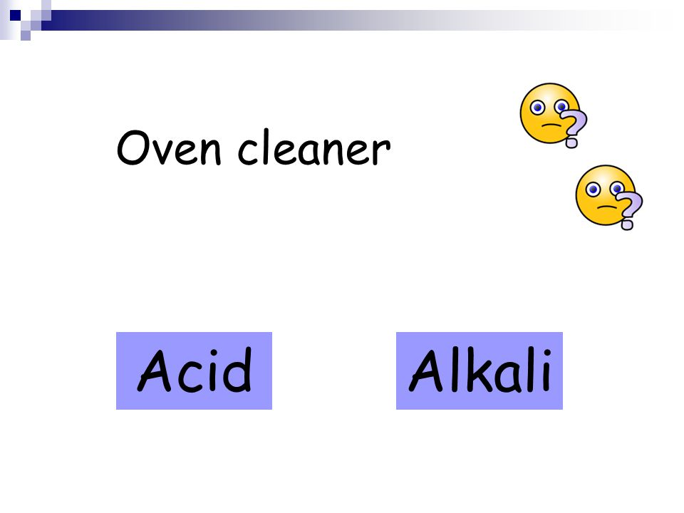 Oven cleaner AcidAlkali