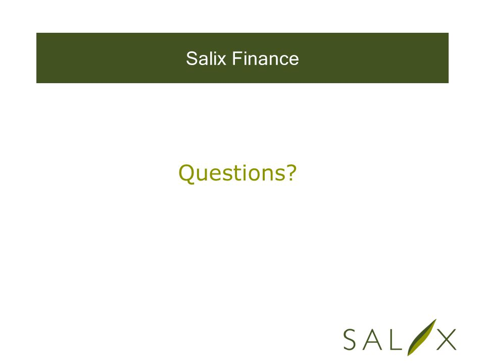 Salix Finance Questions