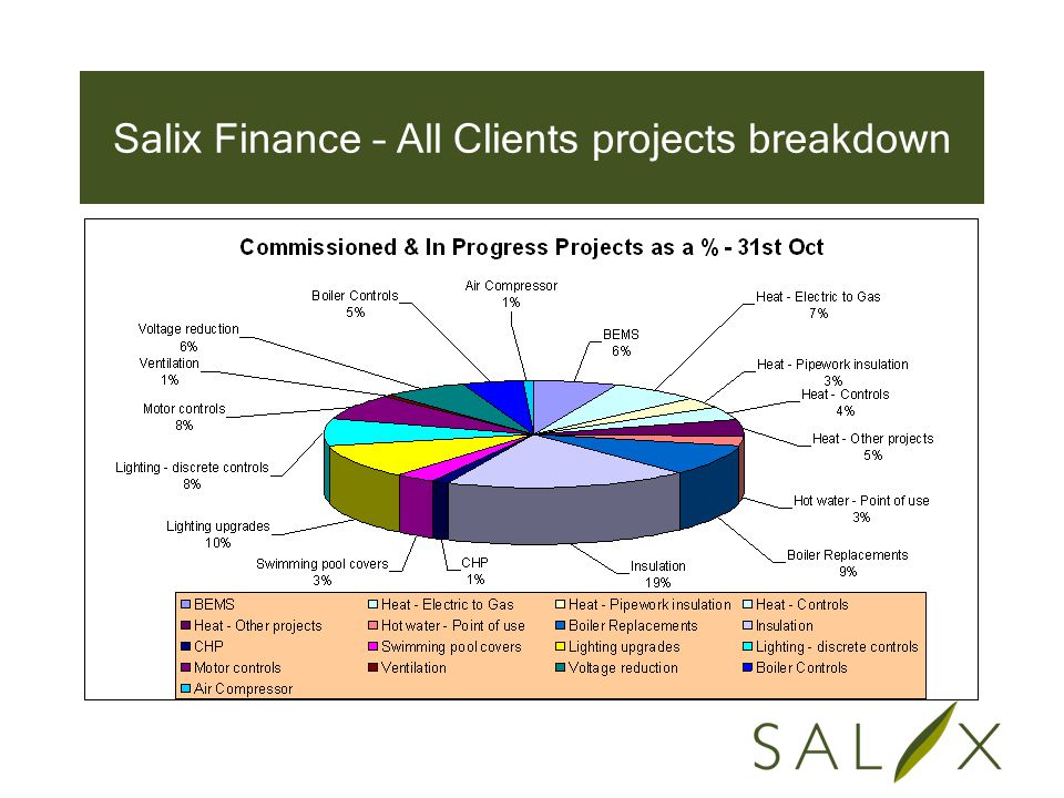 Salix Finance – All Clients projects breakdown