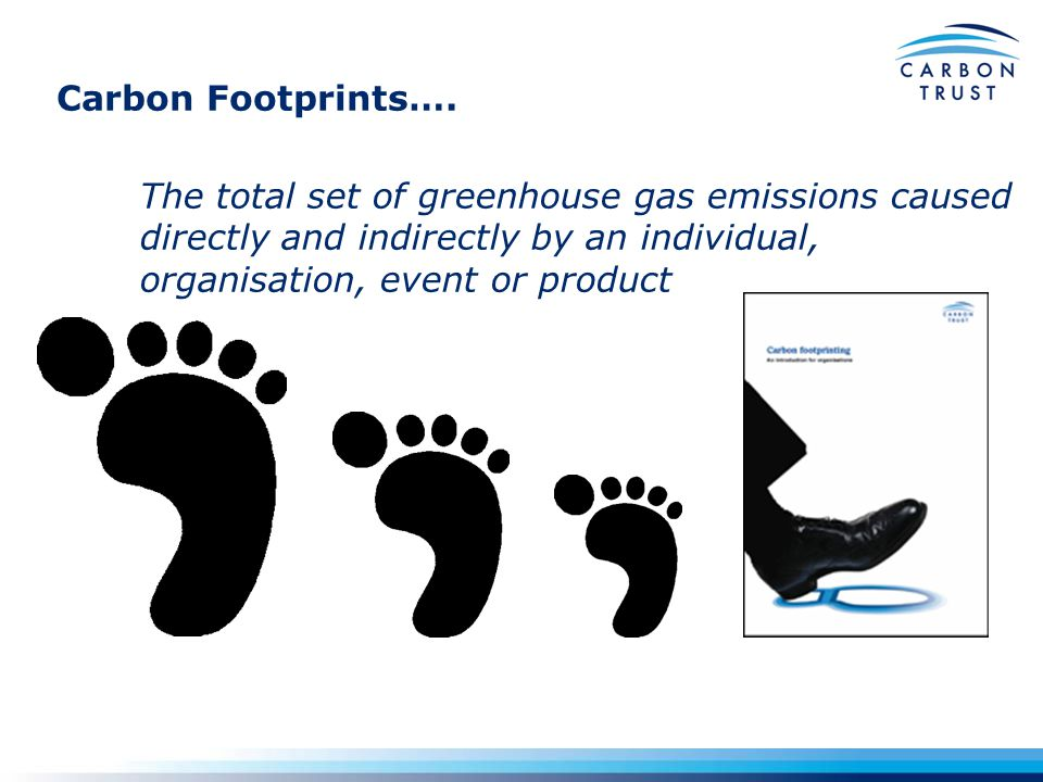 GHG Protocol provides the generally accepted approach emissions reporting Emissions Scope Parent Company Subsidiary ASubsidiary C 100% 51%30% Employee air flights + travel Outsourced activities Supply chain Scope 2: Electricity indirect Scope 3: Other indirect Purchased electricity Waste products Ship fleet Gas burner Gas boiler Truck fleet Scope 1: Direct Organisational boundary Subsidiary B GHG Protocol (WRI, WBCSD) approach