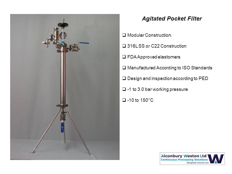Agitated Pocket Filter  Modular Construction.