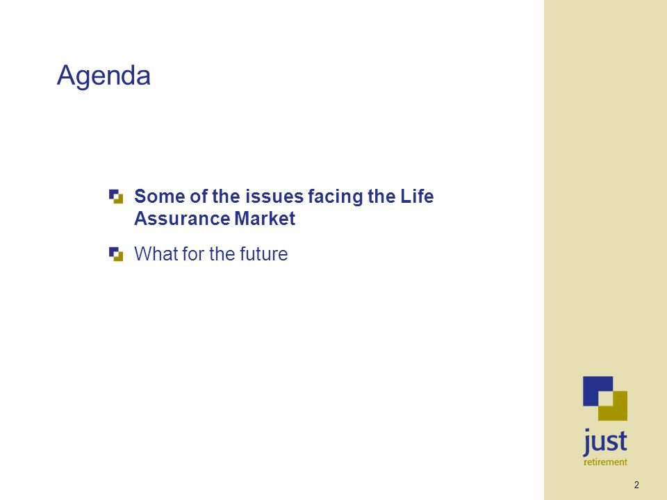 2 Agenda Some of the issues facing the Life Assurance Market What for the future