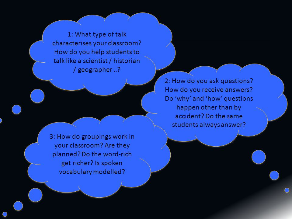 1: What type of talk characterises your classroom.