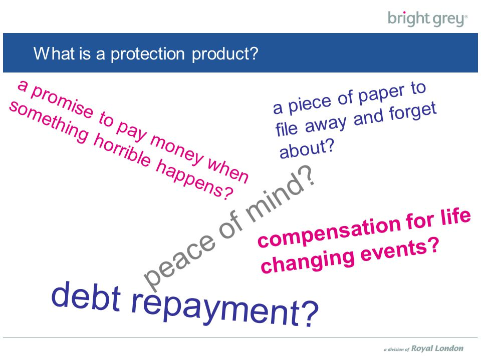 What is a protection product. a piece of paper to file away and forget about.