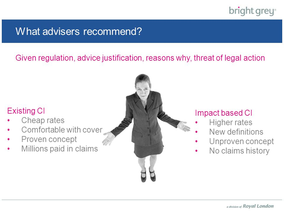 What advisers recommend.