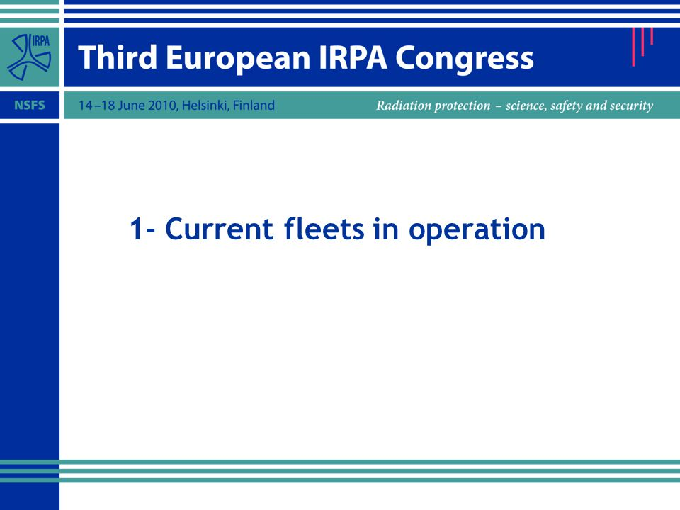 1- Current fleets in operation