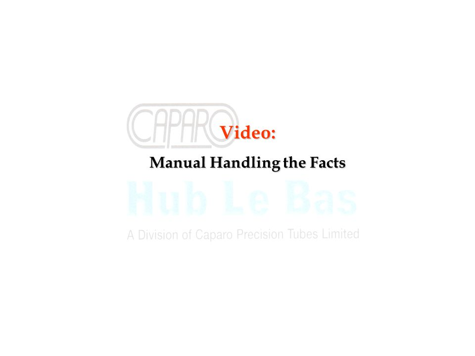 Video: Manual Handling the Facts
