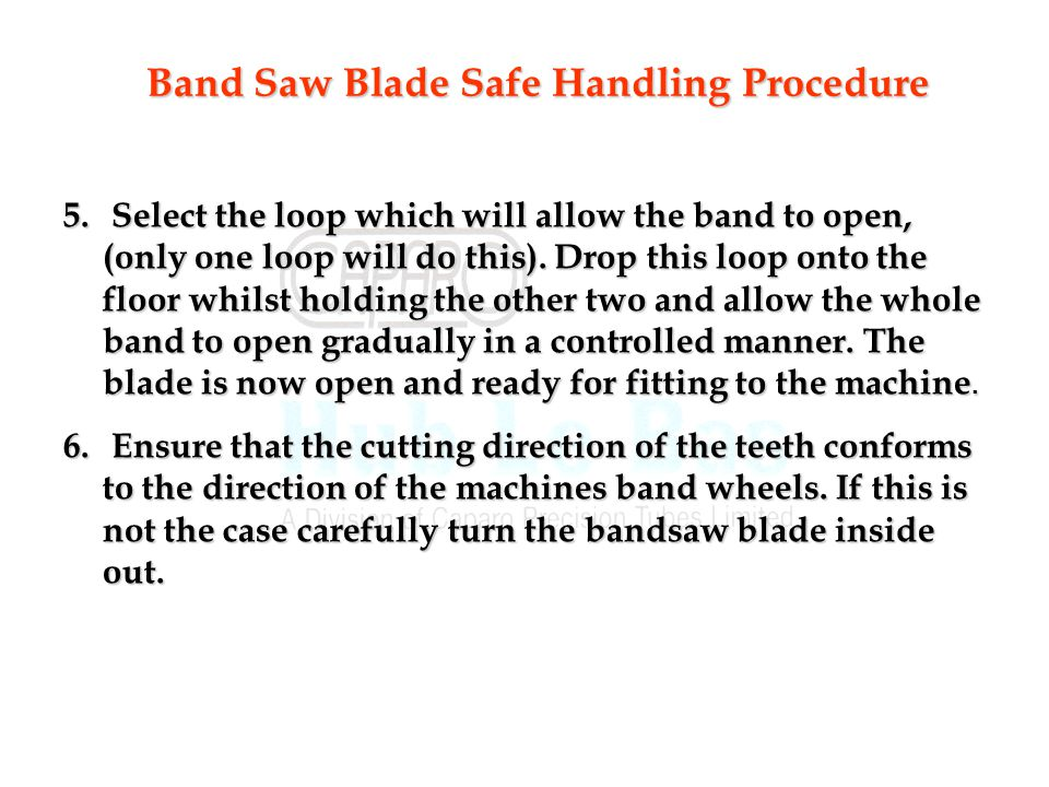 5.Select the loop which will allow the band to open, (only one loop will do this).