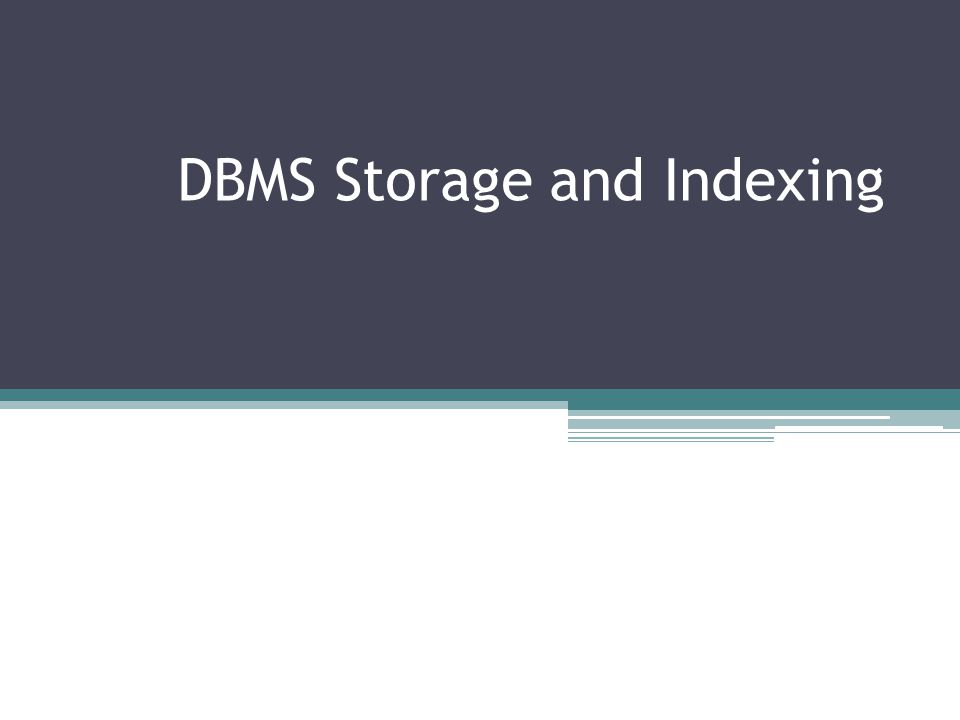 Disk Space Management Lowest layer of DBMS software manages space on disk.