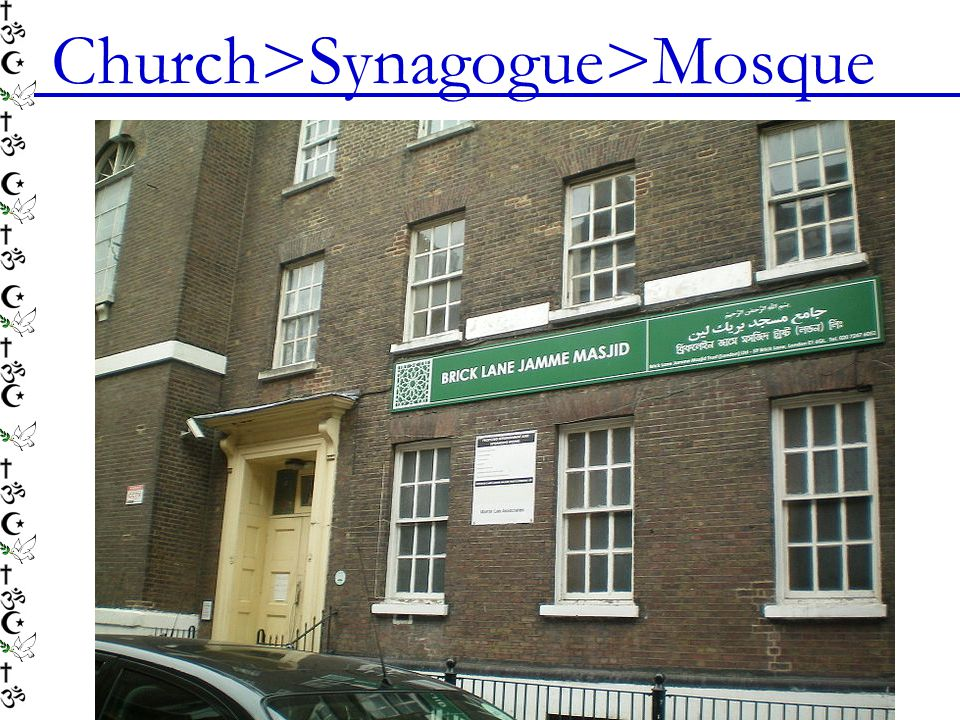Church>Synagogue>Mosque