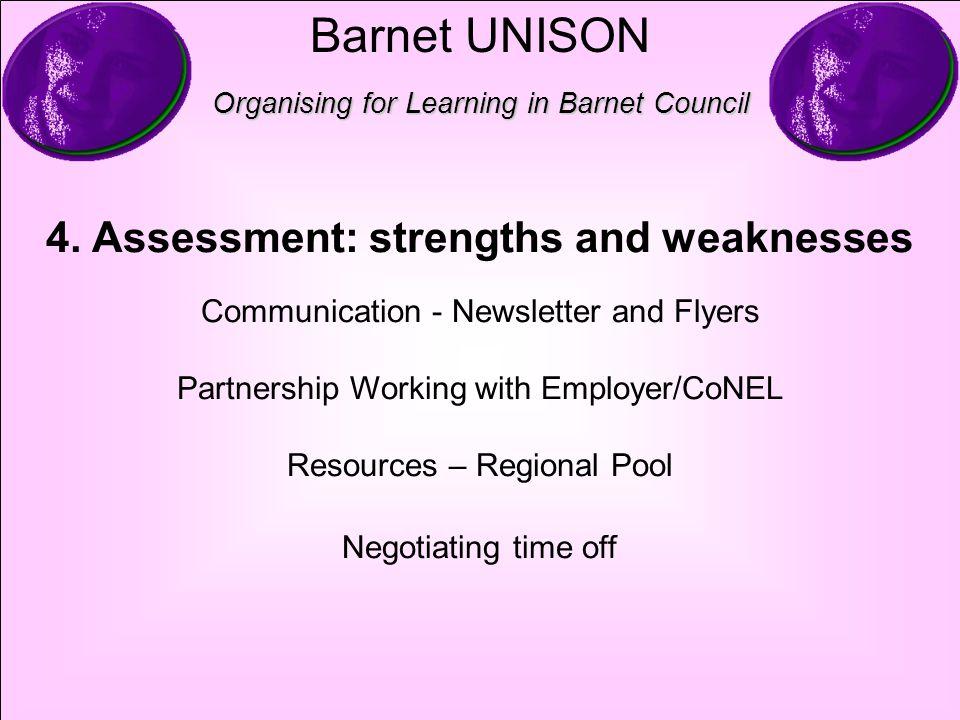 Barnet UNISON Organising for Learning in Barnet Council 4.