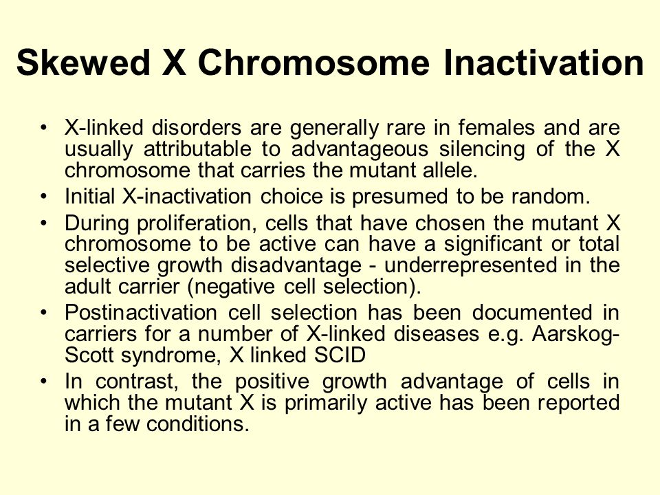 Female Carriers of X linked conditions In general the boundaries between X linked dominant and recessive diseases might not be well defined for a number of cases displaying intermediate disease penetrance in heterozygous females.