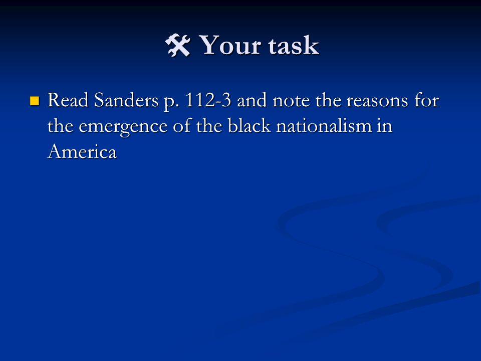  Your task Read Sanders p.