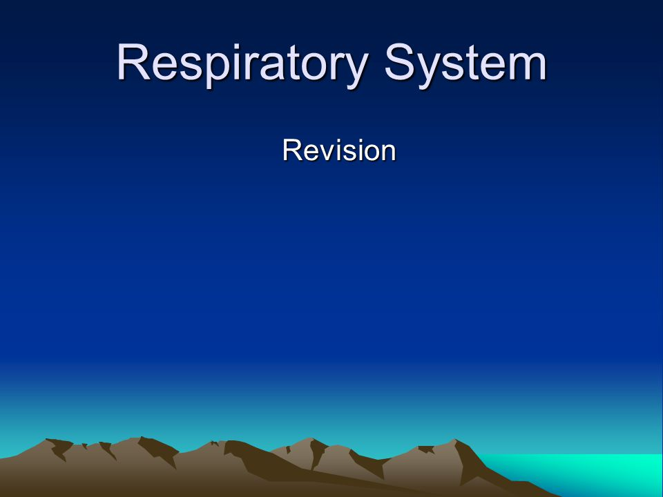 Respiratory System Long-term effects of training on the respiratory system Endurance Increased training makes gaseous exchange in the alveoli more efficient.