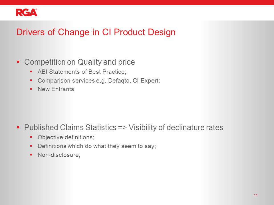  Competition on Quality and price  ABI Statements of Best Practice;  Comparison services e.g.