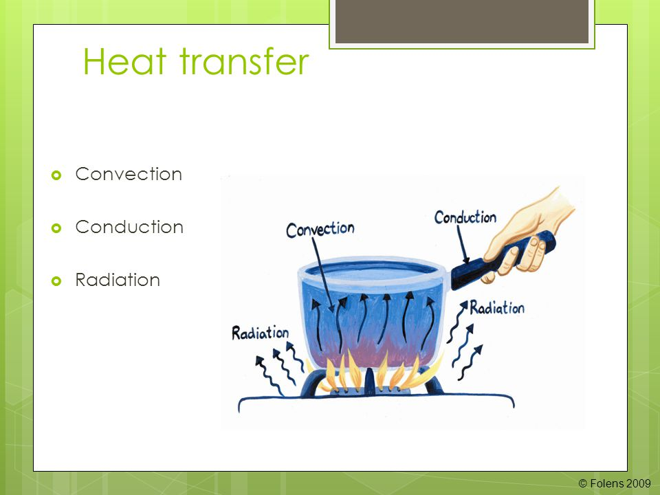 Heat transfer  Convection  Conduction  Radiation