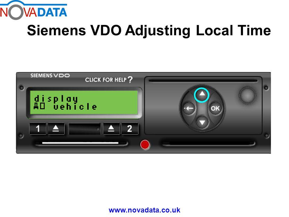 Siemens VDO Adjusting Local Time www.novadata.co.uk