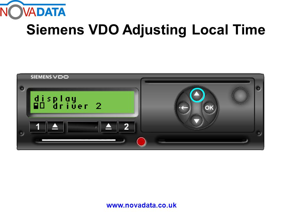 Siemens VDO Adjusting Local Time www.novadata.co.uk