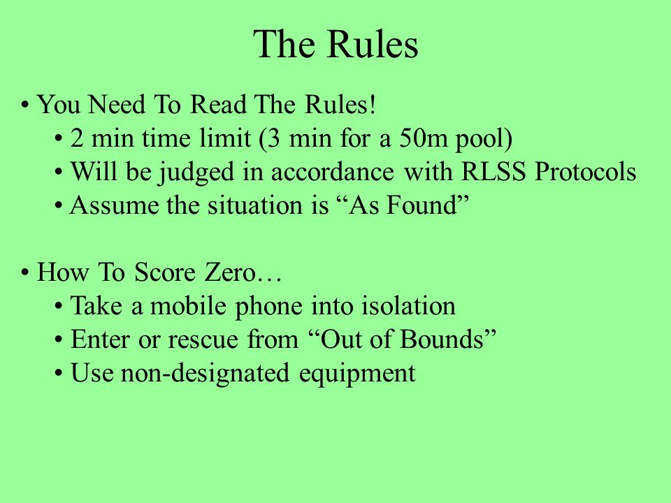 The Rules You Need To Read The Rules.