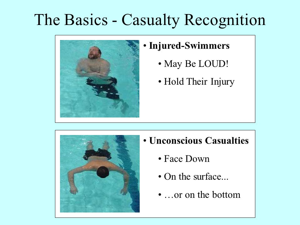 Unconscious Casualties Face Down On the surface...
