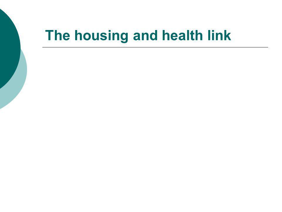 The housing and health link